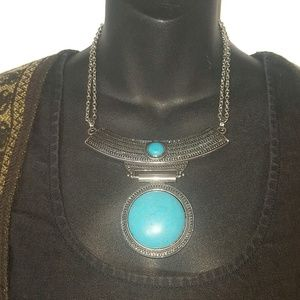 Jewelry - Boho Turquoise Statement Necklace